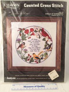 Circle of Songbirds Counted Cross Stitch Kit NIP SEALED 54 18 Janlynn Birds   $12.99 free shipping   | eBay