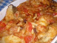 This is the most common cod recipe in my house, I found it at . - pescados y mariscos - Recetas Cod Recipes, Cooking Recipes, Fish Dishes, Main Dishes, American Food, Macaroni And Cheese, Food And Drink, Meals, Vegan