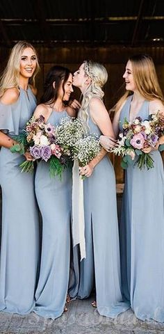 Blue Mismatched Custom Soft Simple Bridesmaid Dress, Most .- Blue Mismatched Custom Soft Simple Bridesmaid Dress, Most Popular New Long Bridesmaid Dresses - Simple Bridesmaid Dresses, Blue Bridesmaids, Sexy Wedding Dresses, Wedding Dress Sleeves, Cheap Wedding Dress, Bride Dresses, Simple Dresses, Wedding Gowns, Prom Dresses