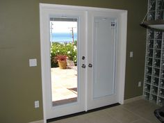 french doors with blinds inside glass - Google Search