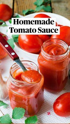 Easy Healthy Recipes, Veggie Recipes, Vegetarian Recipes, Homemade Tomato Sauce, Homemade Pasta, Chutney Recipes, Sauce Recipes, Canning Vegetables, Veggies