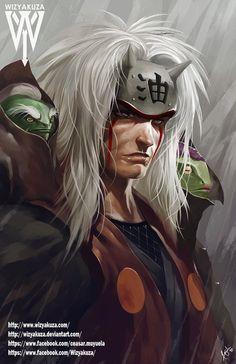 Jiraiya Pervy Sage Naruto 11 x 17 Digital Print by Wizyakuza