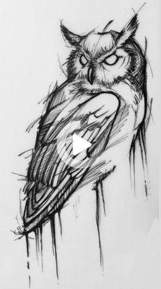 Sketch Owl- Sketch Owl Sketch Owl - tattoo designs ideas männer männer ideen old school quotes sketches Owl Tattoo Drawings, Pencil Art Drawings, Tattoo Sketches, Animal Drawings, Drawing Sketches, Tattoo Owl, Arm Tattoo, Sleeve Tattoos, Drawings Of Owls