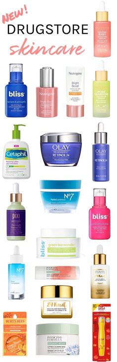 20 New Drugstore Skincare Saviors To Boost Your Fall Skincare Routine Wondering new at the drugstore? A lot, actually! Here are the hottest new drugstore skincare launches for fall 2019 that are worth checking out! Drugstore Skincare, Best Skincare Products, Skincare Routine, Beauty Products, Styling Products, Beauty Tips, Oily Skin Care, Face Skin Care, Dry Skin
