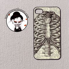 Anatomy Ribcage -  iPhone 4 and iPhone 4s case, iPhone 4 and 4s cover (50004). via Etsy.