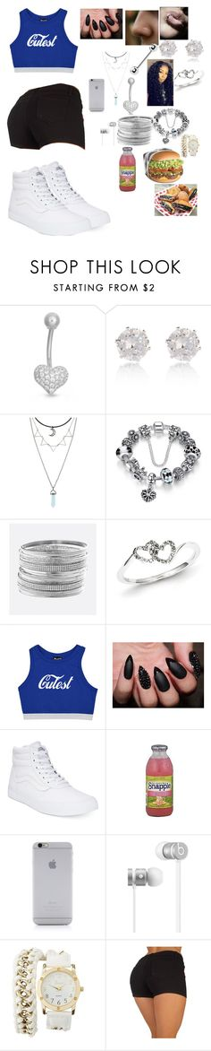 """Bluee"" by paigempickens9999 ❤ liked on Polyvore featuring Gioelli Designs, River Island, Avenue, Kevin Jewelers, Vans, Junk Food Clothing, FRUIT, Native Union, Beats by Dr. Dre and Charlotte Russe"