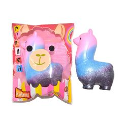 Kiibru Squishy Alpaca Jumbo 13cm Slow Rising Original Packaging Animals Collection Gift Soft Toy
