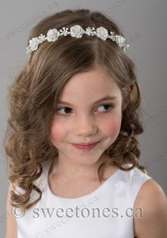 Terrific Communion Updos Hair Style First Communion Hairstyles With Tiara Hairstyle Inspiration Daily Dogsangcom