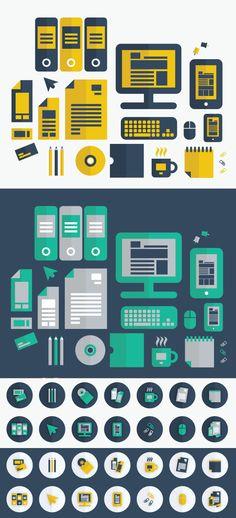 FREE Flat Vector Graphic Design Icons by DesignersBestFriend.deviantart.com on @DeviantArt