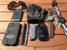 Leatherman Sidekick FourSevens Preon P2 Torch iPhone 5inGriffin Survivor Case Apple EarPods(not pictured) Tough Gloves Ultra Thin Patrol ...
