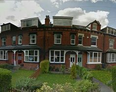 Front porches on Victorian terrace, Leeds
