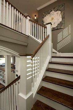 Beautiful dark wood stairs