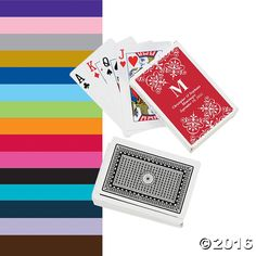 Personalized Monogram Wedding Playing Cards - OrientalTrading.com
