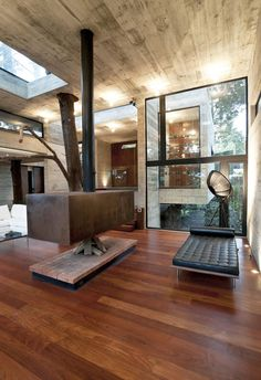 justthedesign:    justthedesign: Living Room,Casa Corello, ByPaz Arquitectura