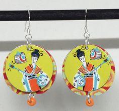 Asian Music Lady Musician Earrings Asian by TheNurseMadePatti