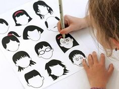 Drawing Faces Printable {Kids Activity Pages}