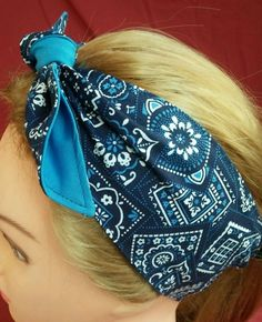 Headband hair wraptie bandanna print boho hippie great for bikers in Clothing, Shoes & Accessories, Unisex Clothing, Shoes & Accs, Unisex Accessories | eBay
