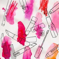 lipstick beauty illustration by Neryl Walker