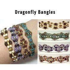 Free Beading Pattern: Dragonfly Bangles by Deborah Roberti at Bead-Patterns.com