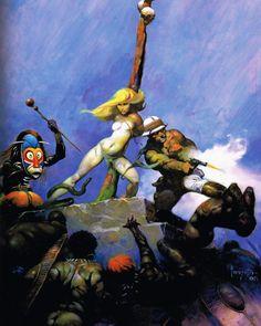 "Frank Frazetta ""Desperation"" Original version used as cover art on ""National Lampoon"""