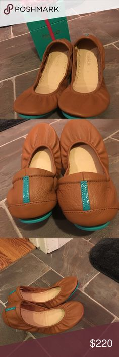 Chestnut Tieks Comes with box, flower and bag. No tears or scuffs- never wore outside-better price p@yP@l Tieks Shoes Flats & Loafers