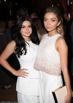 Grown up: Ariel Winter and Sarah Hyland displayed a much more glamorous side than they nor...