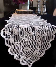 Lace Runner with Birds