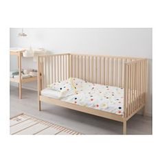 SNIGLAR Crib - IKEA Use as co sleeper until child is old enough for nursery. Then assemble other side for full crib and later use as a toddler bed. So much cheaper than co sleepers and we don't have to worry about making one. Funky Furniture, Baby Furniture, Children Furniture, Furniture Ideas, Ikea Co, Iron Crib, Baby Co Sleeper, Newborn Schedule, Diy Crib