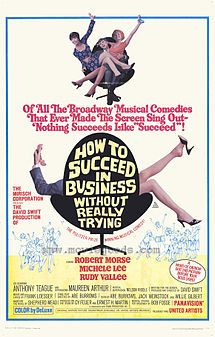 the fact that i didn't want to slap j. pierpont finch by the end of this movie is a testament to robert morse. the whole movie, and some of the characters especially are very cartoonish, but overall that enhanced, rather than detracted from, my viewing experience.