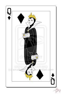 Queen of Diamonds Cards by smallvillereject.deviantart.com