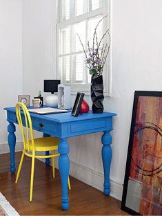 Dica de decoração barata para leigos móveis coloridos
