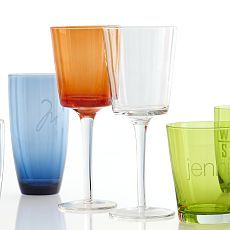 Personalized Glassware | Mark and Graham...great colors