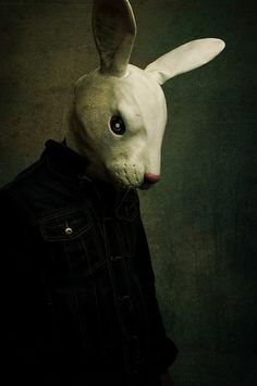 Alice in Wonderland / karen cox. Animal mask/Anti Fashion by Kayleigh McCallum Animal Masks, Animal Heads, Photo Rock, Gottfried Helnwein, Chesire Cat, Arte Obscura, Anti Fashion, Arte Horror, Macabre