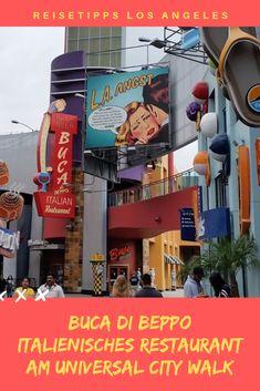 Buca di Beppo italienisches Restaurant am Universal City Walk! Universal City Walk, Travel Photos, Travel Tips, Universal Studios, Los Angeles Travel, Los Angeles Restaurants, Restaurant Lounge, Europe Destinations, United States Travel