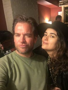 Michael Weatherly and Cote de Pablo watch the season finale of NCIS together on May 17, 2016.