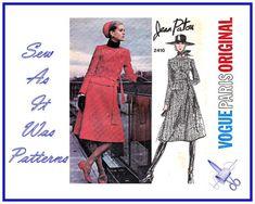 1960s Vogue Paris Original 2410 Jean Patou by SewAsItWasPatterns