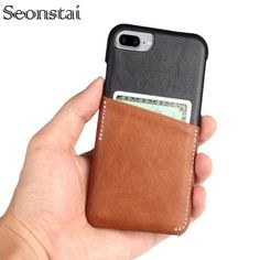 Us 9 99 Seonstai For Apple Iphone X Slim Pu Leather Business Vintage Card Slot Cases 7 8 Apple Business Iphone Leather Apple Iphone Leather Wallet Case