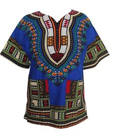 African Traditional Print 100% Cotton Dashiki T-shirt for unisex (MADE - INNOVATIVE PRODUCTS PORTAL - MyProductPortal.com