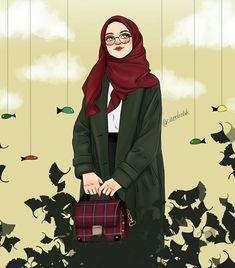 """🍃 """"Ve en çok insana vefa yakışıyor Yüreğe sevda Gözlere haya, Ve en çok yaşamak yakışıyor. İnsanca, sevdaca, duruca.."""" 🍃 #ahmettelli… Tmblr Girl, Sarra Art, Deviantart Drawings, Hijab Drawing, Couple Sketch, Islamic Cartoon, Bff Drawings, Anime Muslim, Hijab Cartoon"""