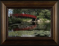 Walk in Love By Todd Thunstedt 20x26 Religious Bible Verse Quote Saying Ghandi Dali Lama Nelson Mandela Mother Teresa Missionary Charity Lily Pad Bridge Red Woods Framed Art Print Wall Décor Picture ThunderMark Art and Graphics http://www.amazon.com/dp/B014DRWRP6/ref=cm_sw_r_pi_dp_9954vb0TWMY7B
