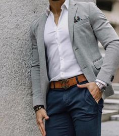 Gut aussehen casual blazer outfits mens - Casual Outfit You are in the right place about balmain Blazer Outfit Here we offer you the most beautiful pictures about the Bla Business Casual Looks For Men, Casual Look For Men, Business Casual Outfits Mens, Casual Wedding Attire For Men, Summer Business Attire, Grey Blazer Outfit, Blazer Outfits Casual, Gray Blazer Men, Hipster Outfits