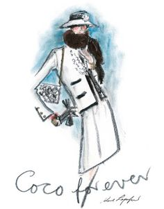 Chanel by Karl Lagerfeld White and Black . Suit FROM: Karl Lagerfeld shares illustrations of designer Coco Chanel.White and Black . Suit FROM: Karl Lagerfeld shares illustrations of designer Coco Chanel. Karl Lagerfeld, Timeless Fashion, Trendy Fashion, Timeless Classic, Mademoiselle Coco Chanel, Moda Chanel, Chanel Jacket, Fashion Articles, Fashion Tips