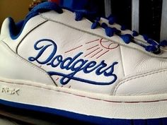 Los Angeles Dodgers Shoes By Reebok. these are pretty sweet, but I want them as the Milwaukee Brewers. (: