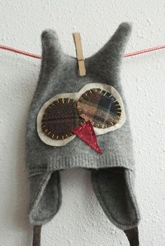 Sweater upcycle. Too cute!