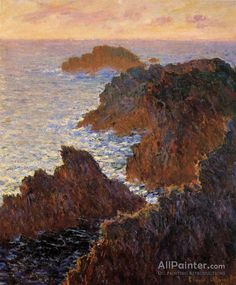 Claude Monet Rocks At Belle-ile, Port-domois oil painting reproductions for sale