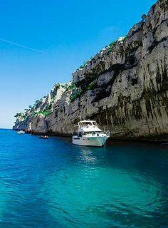 The coast line of Provence, France