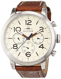 be52580b3251 Tommy Hilfiger Herren Armbanduhr Casual Sport Analog Quarz Leder 1791230  Reloj De Pulsera Hombre