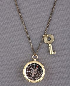 compass & key necklace $19