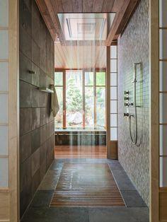 rain head walk in shower - Home Decorating Trends - Homedit