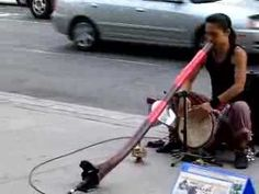 ▶ Cosmic Japanese Musician Shibaten in Toronto plays Didgeridoo - YouTube